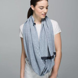 Lululemon Vinyasa Scarf Blue Heathered Inkwell